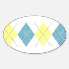 Argyle Business Casual Oval Decal