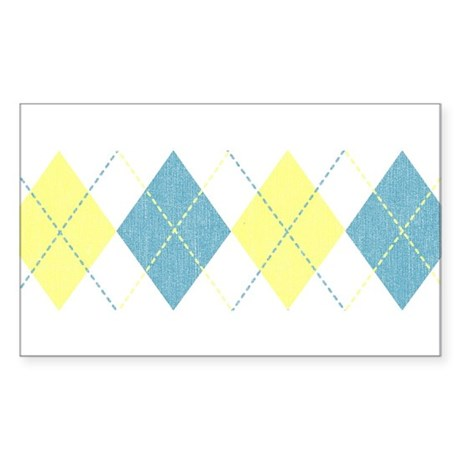 Argyle Business Casual Rectangle Sticker