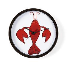 Crawfish Fleur De Craw Wall Clock