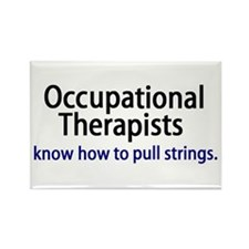 OTs know how to pull strings. Rectangle Magnet (10