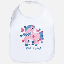 I Want A Pony Bib