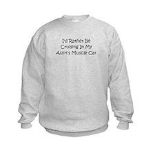 In My Aunt's Muscle Car Sweatshirt