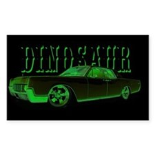 Dinosaur Rectangle Bumper Stickers