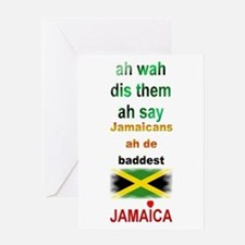 Jamaicans ah de baddest - Greeting Card