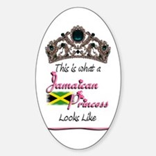 Jamaican Princess - Oval Decal