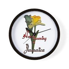 Honeymooning in Jamaica - Wall Clock