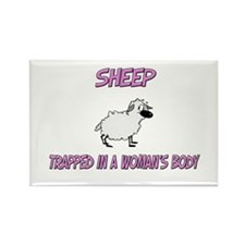 Sheep Trapped In A Woman's Body Rectangle Magnet