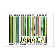 Jamaica, Ind. Date and Motto - Postcards (Package