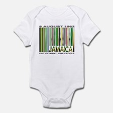 Jamaica, Ind. Date and Motto - Infant Bodysuit