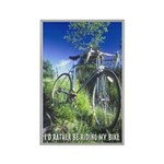 Green Bicycle Rectangle Magnet