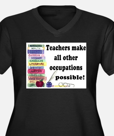 Teachers Make 5 Plus Size T-Shirt