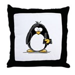 Fortune Cookie Penguin Throw Pillow