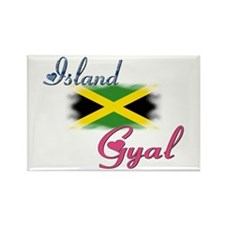 Island Gyal - Jamaica Rectangle Magnet