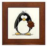 Chocolate Brownie Penguin Framed Tile