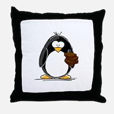 Chocolate Brownie Penguin Throw Pillow