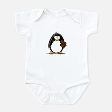 Chocolate Brownie Penguin Infant Bodysuit