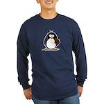 Chocolate Brownie Penguin Long Sleeve Dark T-Shirt