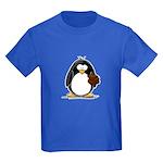 Chocolate Brownie Penguin Kids Dark T-Shirt