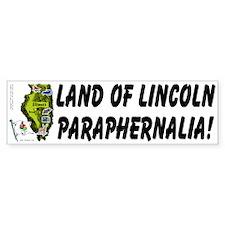 IL-Lincoln. Bumper Bumper Sticker