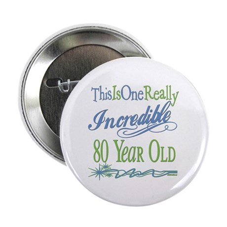 "Incredible 80th 2.25"" Button"