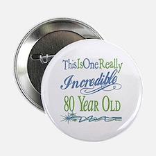 "Incredible 80th 2.25"" Button"