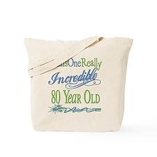 Incredible 80th Tote Bag