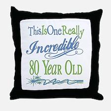 Incredible 80th Throw Pillow