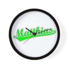 Retro Matthias (Green) Wall Clock