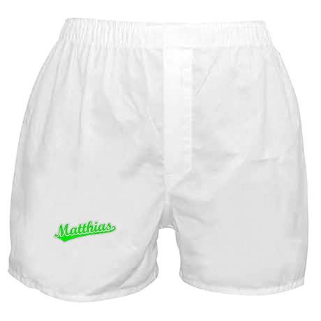Retro Matthias (Green) Boxer Shorts