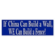 Build a Fence Bumper Bumper Sticker