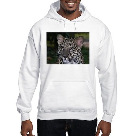 Spotted Leopard Face Hooded Sweatshirt
