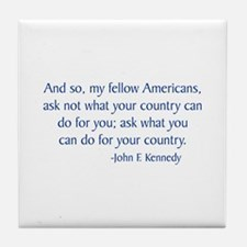 Kennedy 2 Tile Coaster