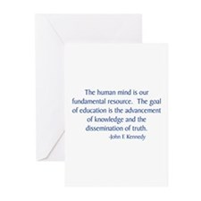 Kennedy 3 Greeting Cards (Pk of 10)