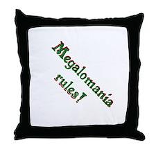 Megalomania Throw Pillow