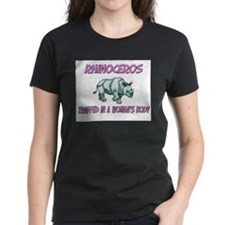 Rhinoceros Trapped In A Woman's Body Tee