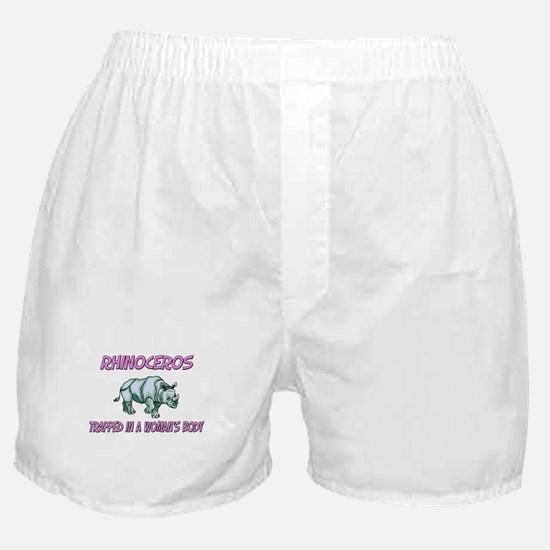 Rhinoceros Trapped In A Woman's Body Boxer Shorts