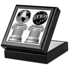 Two Masonic Pillars Keepsake Box