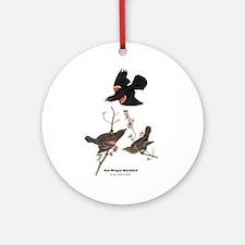 Audubon Red-Winged Blackbird Ornament (Round)