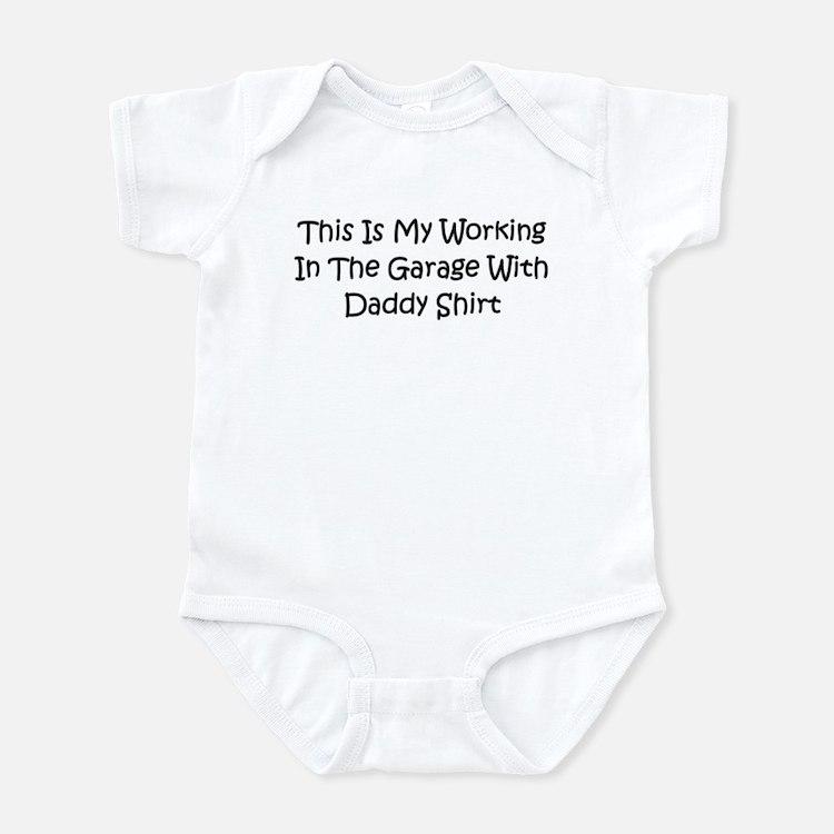 Garage With Daddy Infant Bodysuit