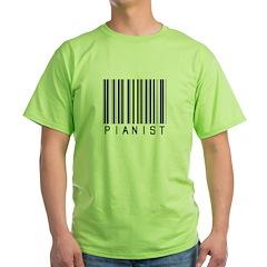 Pianist Bar Code T-Shirt