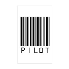Pilot Barcode Rectangle Decal