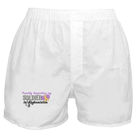 Proudly Supporting my Soldier Boxer Shorts
