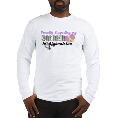 Proudly Supporting my Soldier Long Sleeve T-Shirt