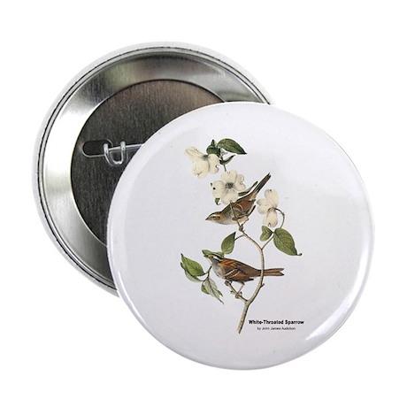 """Audubon White-Throated Sparrow 2.25"""" Button (10 pa"""