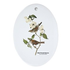 Audubon White-Throated Sparrow Oval Ornament