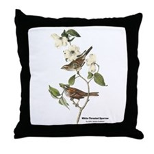 Audubon White-Throated Sparrow Throw Pillow