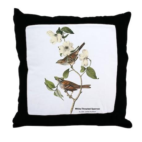 Audubon White-Throated Sparrow Throw Pillow