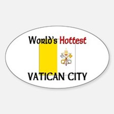 World's Hottest Vatican City Oval Decal