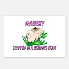 Rabbit Trapped In A Woman's Body Postcards (Packag