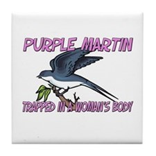 Purple Martin Trapped In A Woman's Body Tile Coast